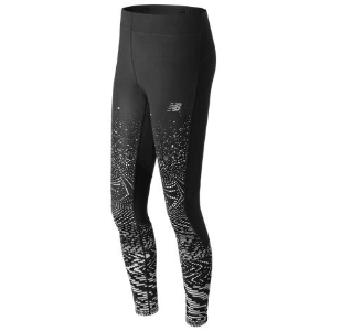Abbigliamento runner NEW BALANCE IMPACT PRINTED TIGHT W nero Donna
